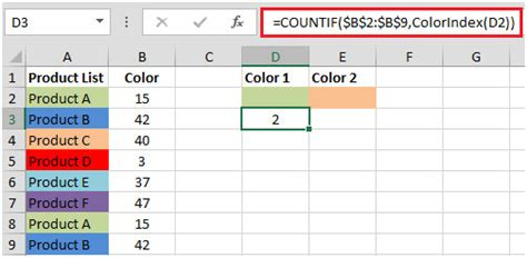 excel countif color how to get color of the cell using vba in microsoft excel