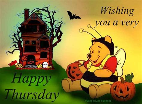 pooh happy thursday quote fb   images happy halloween pictures