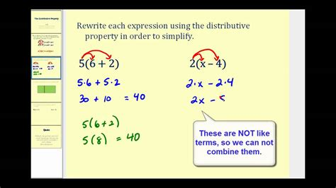 introduction   distributive property youtube