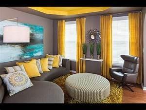 Salon Gris Et Rose : d coration salon jaune et gris youtube ~ Melissatoandfro.com Idées de Décoration