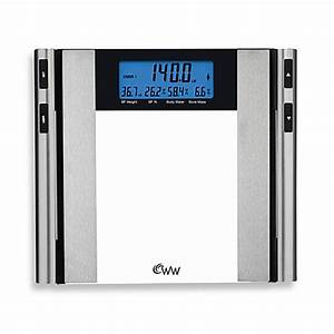 weight watchersr by conairtm glass satin nickel body With bathroom scales at bed bath and beyond