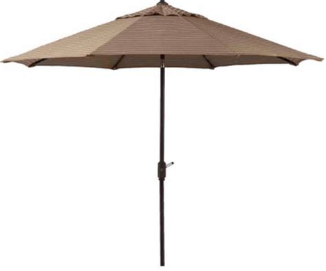 new large 10 patio market umbrella mocha stripe sunbrella