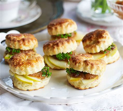 cheap easy canapes ploughman s scones recipe food