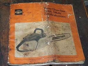 Stihl 045 Chainsaw Instruction Manual Original