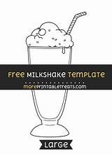 Milkshake Template Printable Templates Moreprintabletreats Printables Sock 50s Hop Diner Birthday Sponsored Links sketch template