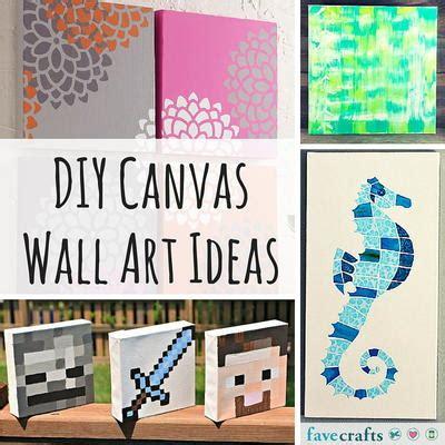 craft ideas on canvas 31 diy canvas wall ideas favecrafts 3928