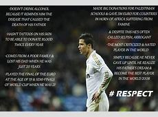Motivational Wallpaper on Respect Life of Cristiano