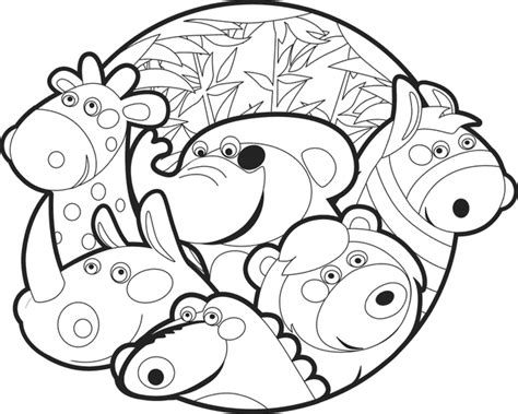 cartoon coloring pages zoo animals