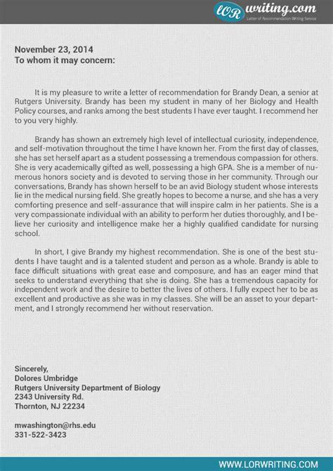 letter of recommendation for nursing school nursing recommendation letter help writing lab www