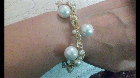 Como hacer bisuteria fina pulseras de perlas cursos de