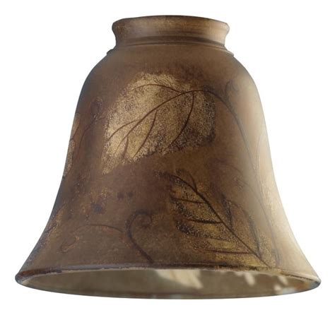 westinghouse painted leaf design glass bell shade