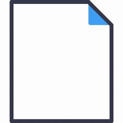 Icon Empty Document Icons Yellow