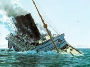 lusitania sinking1 by rms olympic