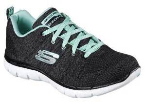flex appeal 2 0 skechers womens skechers sport flex appeal 2 0 high energy black aqua