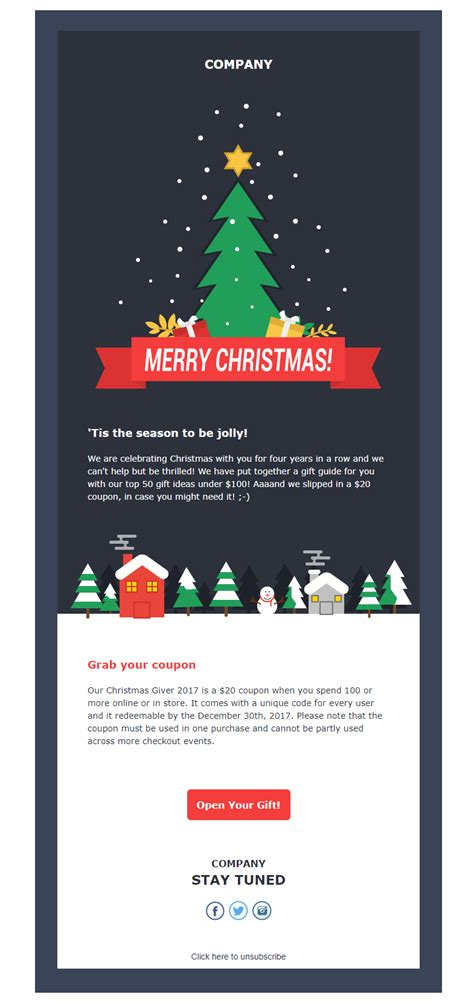 christmas letter ideas top 5 free newsletter templates to rock 2017 20848 | Moosend template 1
