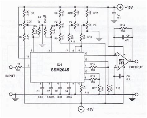 Audio Compressor Schematic Diagram