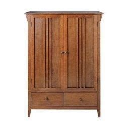 American Armoire Plans by Free Armoire Wardrobe Plans Mission Style Wardrobe