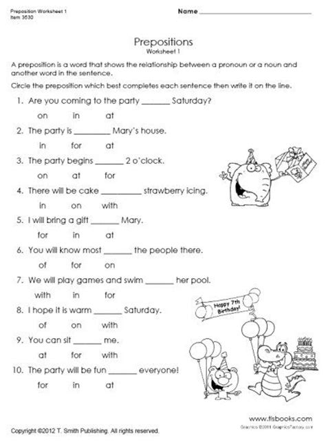 snapshot image of preposition worksheet 1 writing ideas pinterest 1 quot and to share