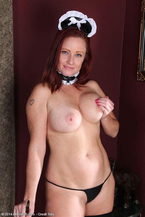 Redhead MILF Shelly Jones Remove Her Maid Uniform MILF Fox