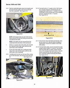 Need Instructions On Drive Belt Replace For Cub Cadet