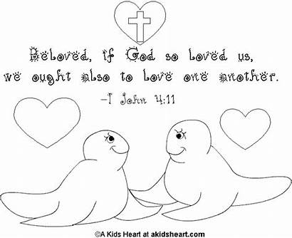 Coloring Bible Pages Verse Heart Valentine Verses