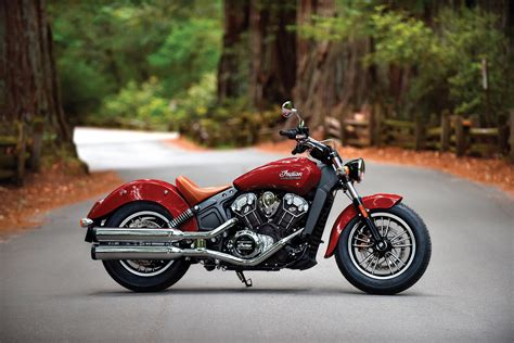 2016 Indian Scout Revealed In All-new Wildifre Red Livery