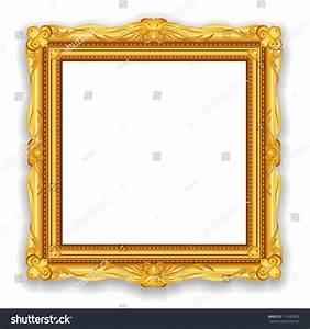 Gold Vintage Frame Decorative Vector Frame Stock Vector ...