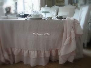 Nappe Rose Poudré : nappe 150x150 lin rose poudr lin lav froiss stone washed linen shabby chic d coration de ~ Teatrodelosmanantiales.com Idées de Décoration