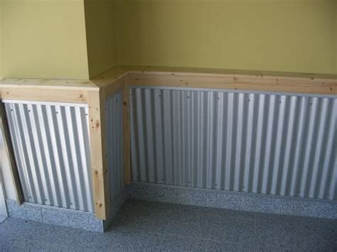 Tin Wainscoting Panels by Corregated Wainscoting Re Pics Of My Garage And Shop