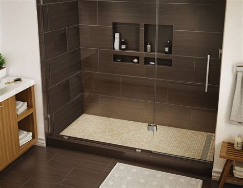 Bathroom Shower Tile Replacement by Redi Trench 174 Single Curb Shower Pan With Right Trench