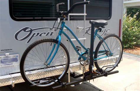 bike rack for rv choosing the best rv bike rack hitch ladder tongue or