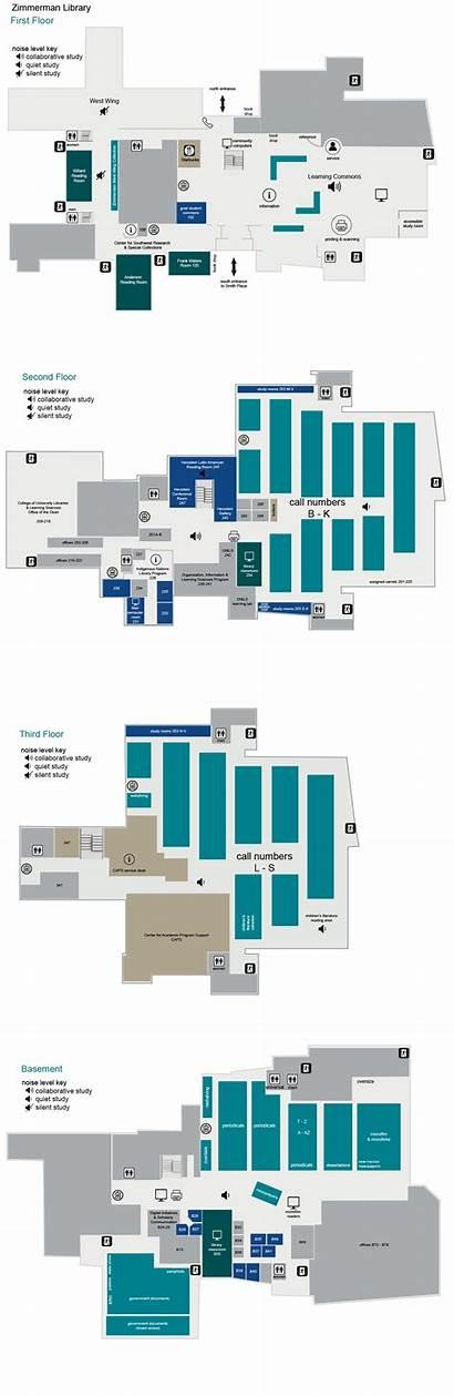 Library Zimmerman Floor Unm University Libraries Map