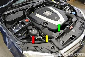 Mercedes C300 Engine Compartment  Mercedes  Free Engine Image For User Manual Download