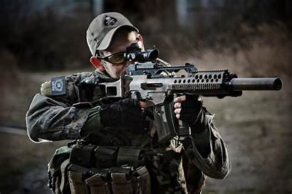 Military Guns Soldiers Weapon Camouflage Uniforms Army