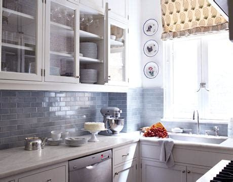 Blue Subway Tile   Contemporary   kitchen   House Beautiful