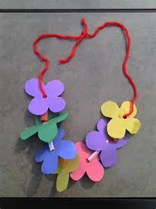 Hawaiian Paper Leis Craft for Kids Flowers