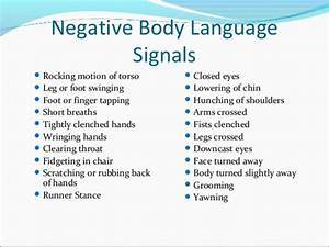 Body Language Chart | Know-It-All