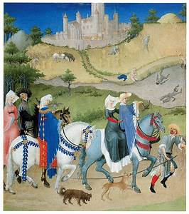 August, From, Les, Tres, Riches, Painting, By, Limbourg, Brothers