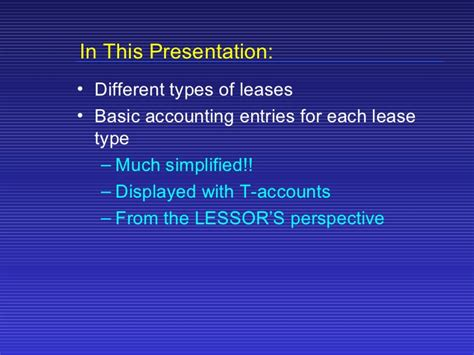 Lease Accounting Basics