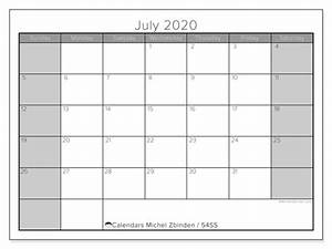 February 2020 Calendar Printable July 2020 Calendars Ss Michel Zbinden En