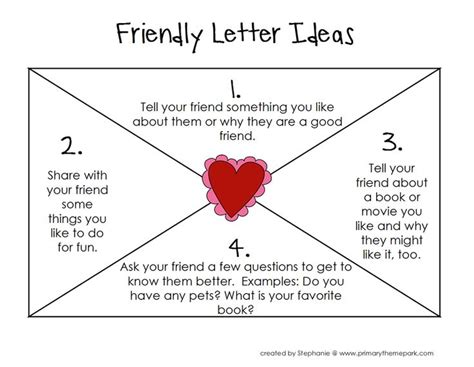 friendly letter ideas  pinterest letter