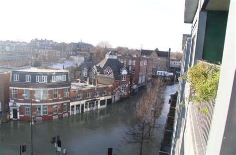 stoke newington flooding dramatic images show scale