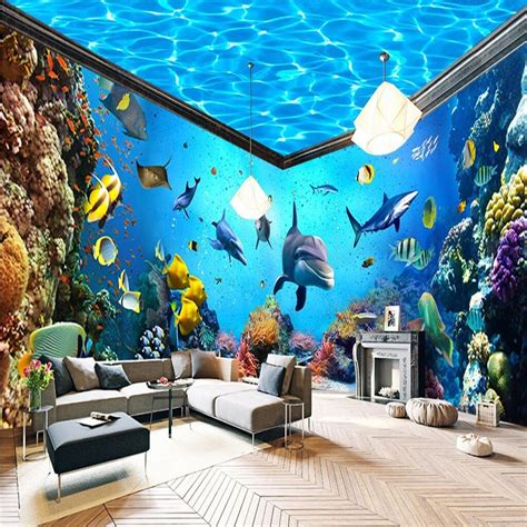 beibehang underwater world aquarium  house backdrop