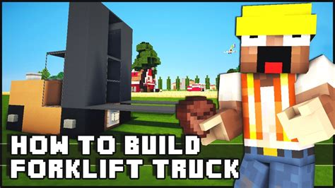 Minecraft  How To Make  Forklift Truck  Youtube