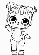 Lol Surprise Coloring Dolls Doll Pages Tiger Clothes sketch template