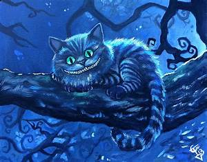 Cheshire Cat Painting by Tom Carlton