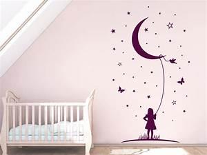Wandtattoo Baby Mädchen : sterne wandtattoo mond phantasie babyzimmer wandtattoo von ~ Markanthonyermac.com Haus und Dekorationen