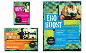 Strength Training Flyer & Ad Template Design