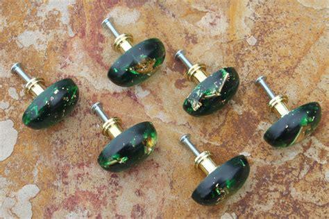 diy kitchen cabinet knobs diy gold leaf emerald cabinet knobs resin crafts 6824