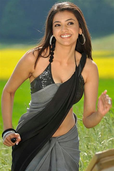 Latest Movies Gallery Actress Kajol Agarwal Hot Saree Photos
